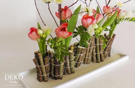 Diy Ausgefallene Blumendeko Mit Holz Deko Kitchen