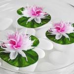 DIY: Blüten und Seerosen aus Krepp-Papier