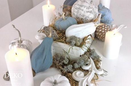 DIY Herbstdeko für den Tische in Pastelltönen Deko-Kitchen