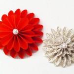 DIY Dahlien aus Papier Deko-Kitchen
