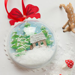 Vorlage Winterlandschaft 3D Weihnachtskugel Deko-Kitchen