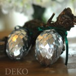 DIY Silberne Zapfen aus Metallicpapier Deko-Kitchen