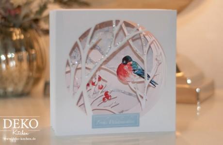 DIY Tunnelkarte aus Papier zu Weihnachten Deko-Kitchen