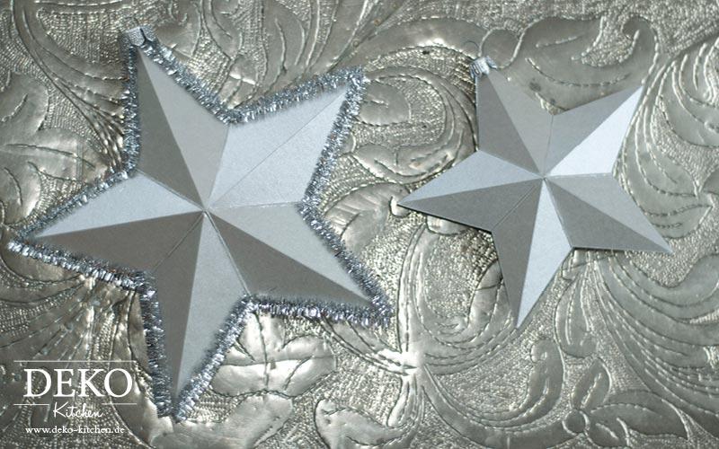 DIY 3D Sterne aus Papier für die Weihnachtsdeko Deko-Kitchen