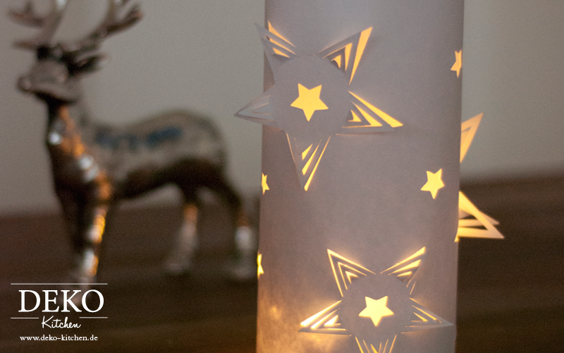 DIY 3D Windlicht aus Papier Deko-Kitchen