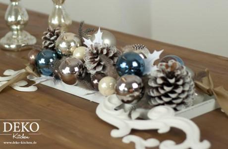 DIY Weihnachts-Tischdeko im Barockstil Deko-Kitchen