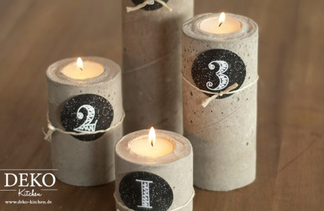 DIY: Cooler Adventskranz aus Beton