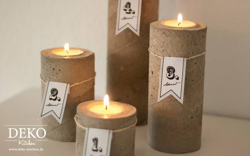Diy cooler adventskranz aus beton deko kitchen for Deko kitchen papierblumen