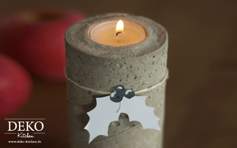DIY stylischer Adventskranz aus Beton Deko-Kitchen