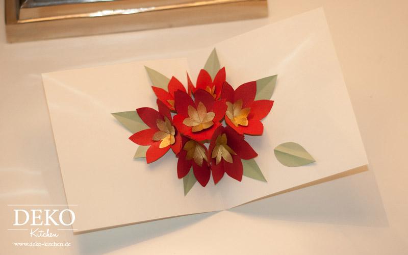 DIY Popup Weihnachtskarte mit Christsternen aus Papier Deko-Kitchen