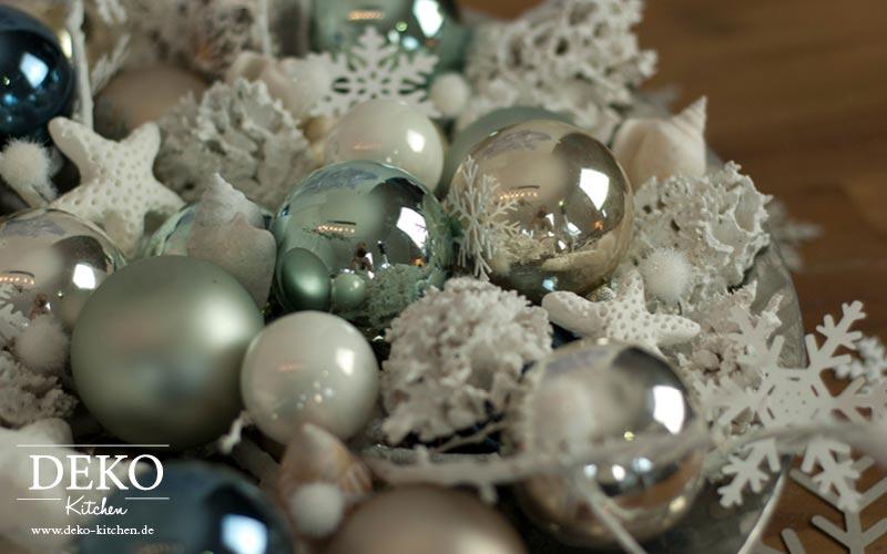 Weihnachtsdeko In Silber Und Weiß.Diy Weihnachtsdeko Mal Anders Deko Kitchen