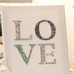 DIY Leinwand mit funkelndem Pailletten-Schriftzug Deko-Kitchen