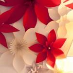 DIY Wanddeko mit Christsternen aus Papier Deko-Kitchen