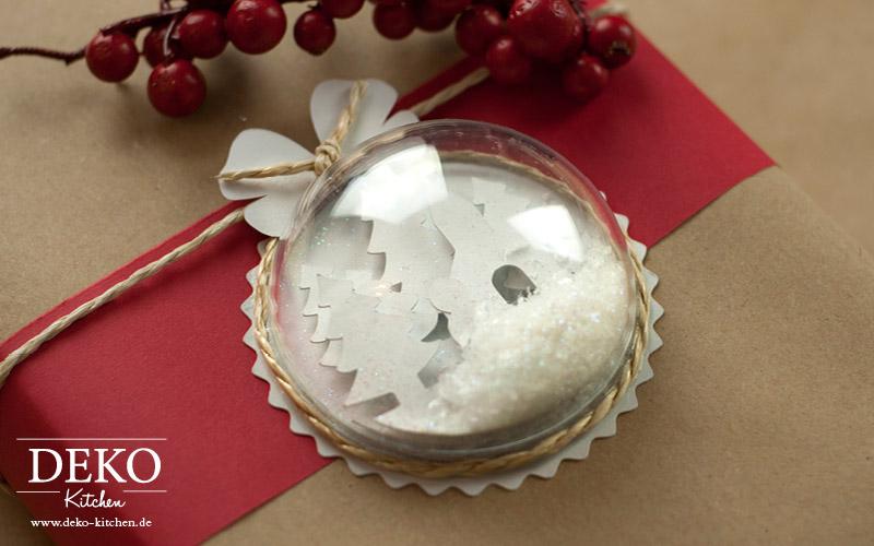 DIY 3D Weihnachtskugel mit Winterlandschaft Deko-Kitchen