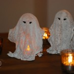 DIY: Coole Halloween-Gespenster aus Gips