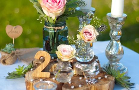 DIY Hochzeitsdeko mit Holzscheiben