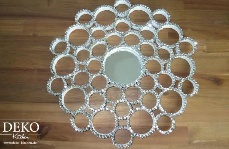 DIY Cooler Spiegel aus Papprollen und Pailletten Deko Kitchen