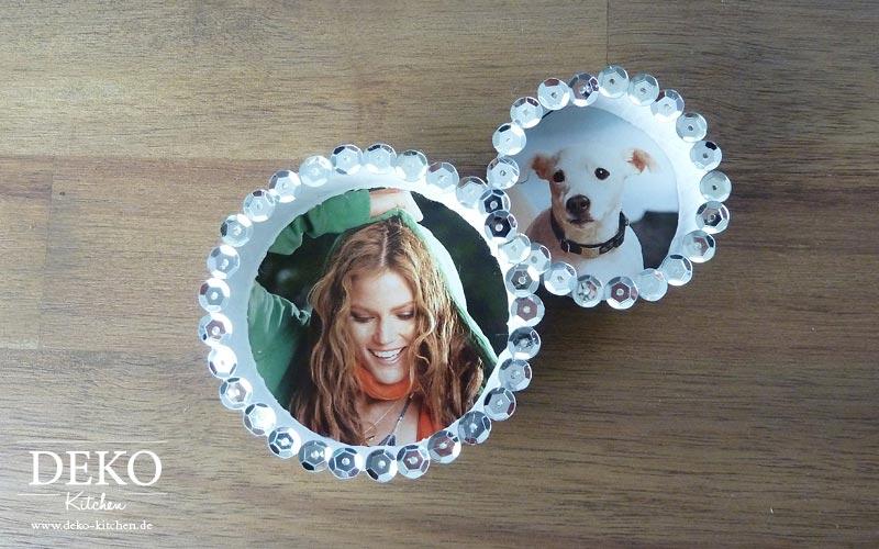 DIY: Cooler Spiegel aus Papprollen und Pailletten Deko Kitchen