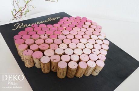 DIY Pinnwand aus Weinkorken Deko-Kitchen
