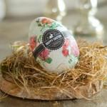 DIY Große Plastik-Ostereier mit Serviettentechnik verschönern Deko-Kitchen