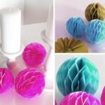 DIY: Wabenbälle für Party- oder Hochzeitsdekos