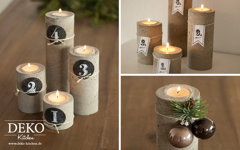 Diy Cooler Adventskranz Aus Beton Deko Kitchen