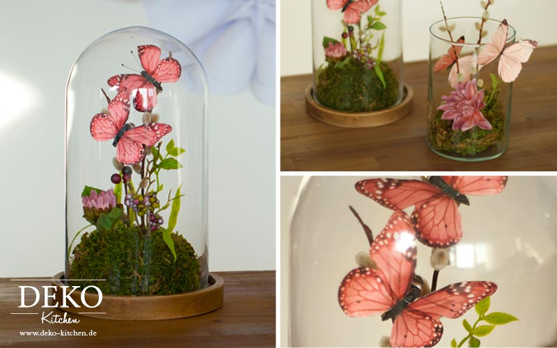 Diy Susses Schmetterlings Terrarium Als Tischdeko Deko Kitchen