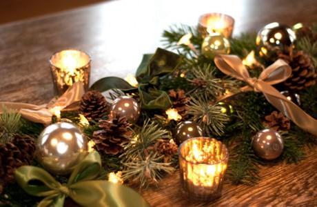 DIY weihnachtliche Girlande als Tischdeko Deko-Kitchen