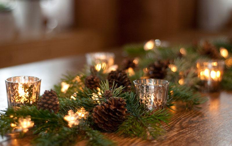 diy weihnachtliche tischgirlande deko kitchen. Black Bedroom Furniture Sets. Home Design Ideas