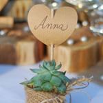 Vorlage Herzform Namenskarte Hochzeitsdeko Deko-Kitchen