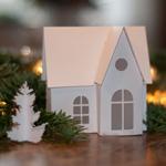 Vorlage Winterhaus aus Papier DekoKitchen