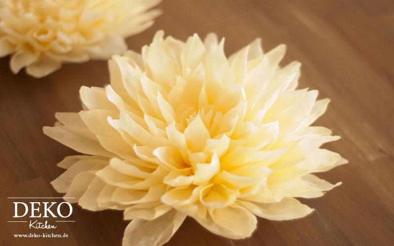 Diy gro e dahlien aus krepppapier deko kitchen - Papierblumen selber machen ...