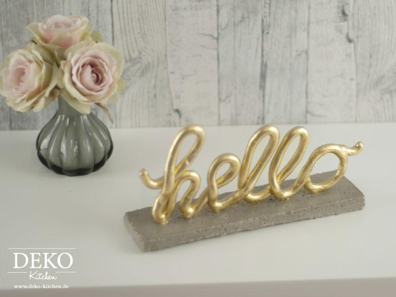 DIY: Deko-Schriftzug aus Fomo von Deko-Kitchen