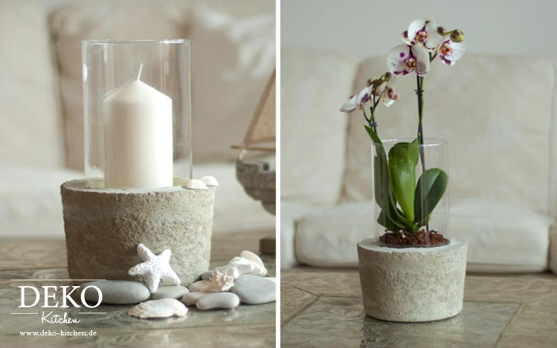 Diy coole deko vase mit betonsockel deko kitchen for Coole deko