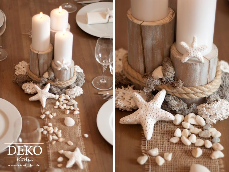 Diy Centerpiece Fur Maritime Tischdekos Deko Kitchen