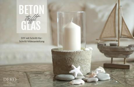 DIY: Coole Deko-Vase mit Betonsockel