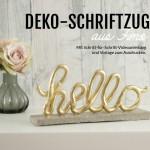 DIY: Deko-Schriftzuge aus Fimo