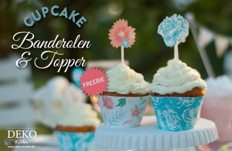 Freebie: hübsche Cakepop Banderolen und Topper von Deko-Kitchen