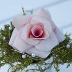 Vorlage: Blattform für Rosen aus Kaffeefiltern