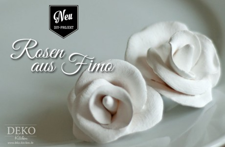 DIY: hübsche Deko-Rosen aus Fimo