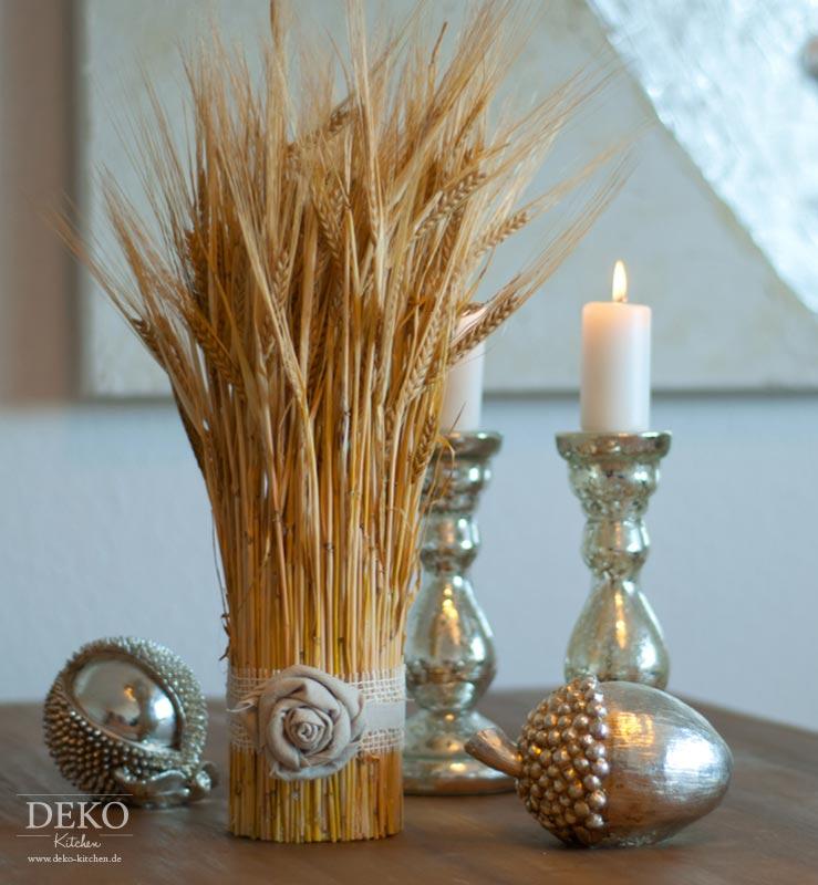 DIY: Herbstdeko mit Getreide Deko-Kitchen