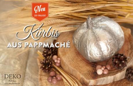 DIY: hübsche Deko-Kürbisse aus Pappmaché