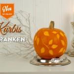 DIY: Deko-Kürbis mit geschnitzen Ranken Deko-Kitchen