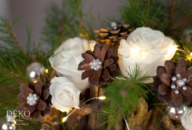DIY: Weihnachtsdeko Basteln   Adventsgesteck Mit Zweigen Deko Kitchen