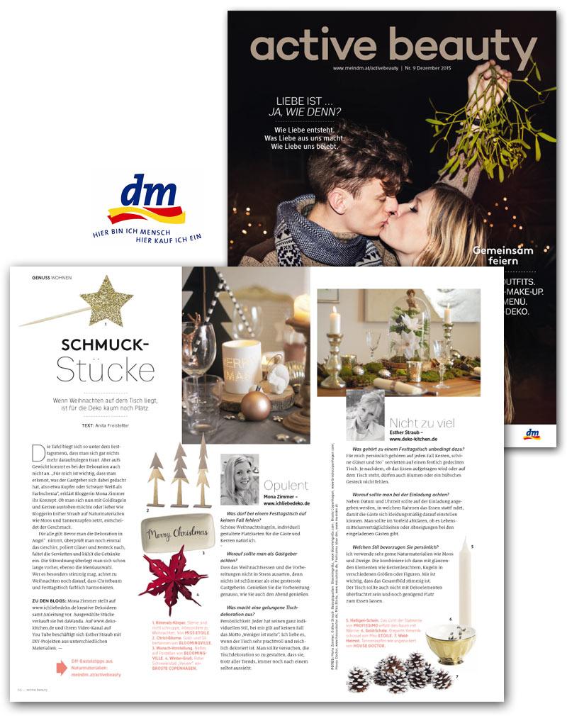 Deko-Kitchen in der Winterausgabe des DM Magazin Österreich