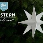 DIY 3D Stern basteln einfach und schnell Deko-Kitchen