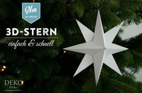 3D Stern basteln – einfach und schnell einen hübschen Weihnachtsstern selber machen