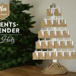 Adventskalender basteln – hübscher Adventskalender aus Holz im Shabby Chic Stil