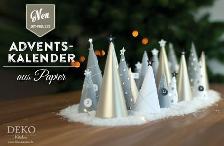 DIY: Adventskalender basteln – schnell und günstig mit Papier