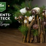 Weihnachtsdeko basteln – ausgefallenes Adventsgesteck mit Zweigen